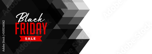 Fotomural  black friday geometric sale banner design