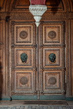 Old And Stately Wooden Door