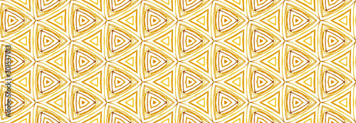 Foto auf AluDibond Boho-Stil African tribal colorful motif in ethnic style. Geometric seamless pattern for site backgrounds, wrapping paper, fashion design and decor.