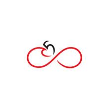 Infinite Heart Five Logo Vector