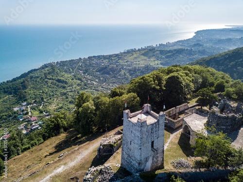 Photo 11th century Anacopian Fortress in New Athos, Abkhazia. 2019