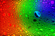canvas print picture - Colorful drops of oil on the water. Rainbow or spectrum colored circles. Abstract bright background for design.