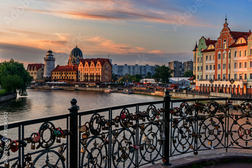 Photo sur Toile Europe de l Est Beautiful view of the evening city Kaliningrad.