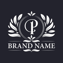 Alphabet P Letter Logo Design. Vintage, Luxurious & Ornamental Luxury Letter P Logo Design Template.