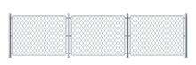 Security Metal Fence Or Police...