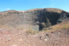 Wide Crater Of Volcano Vesuviu...