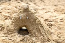 砂場と砂の山と砂山で...