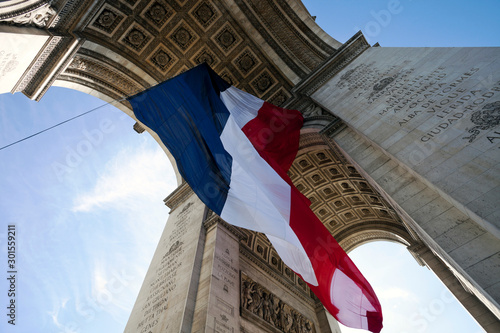 Arc de Triomphe with French Flag Slika na platnu