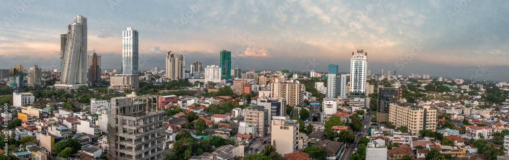 Fototapety, obrazy: Skyline of Colombo Sri Lanka at twilight