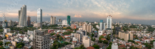 Skyline of Colombo Sri Lanka at twilight
