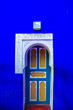 canvas print picture - Traditional oriental doors with ornament in Morocco.