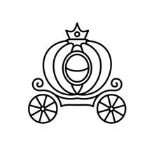 Pumpkin Carriage Line Style Il...