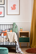 Pillows And Toys On Single Met...