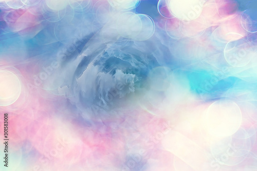 Autocollant pour porte Roses heavenly clouds background / abstract beautiful background of bright clouds in the sky