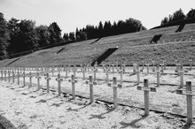 Cemetery Near The Nazi Concentration Camp Of Struthof - Natzweiler, Alsace, France Abstract Concept: Symbol Of Nazism And All Kind Of Genocide.