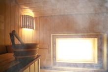 Sauna, Wooden Interior Baths, ...