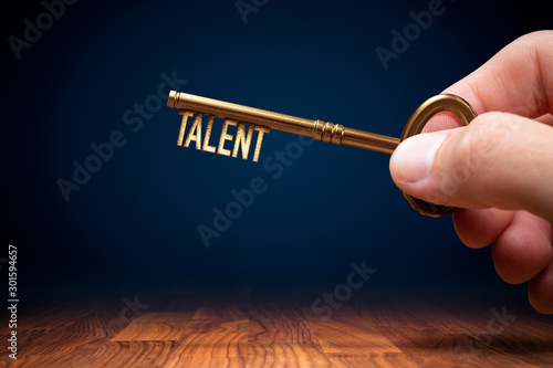 Fototapeta Key to unlock and open your talent