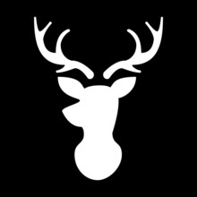 Modern Deer Head Illustration ...