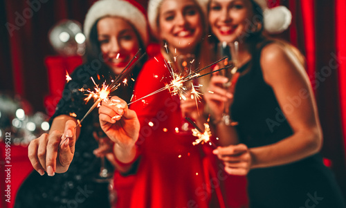 Obraz New year girls - fototapety do salonu