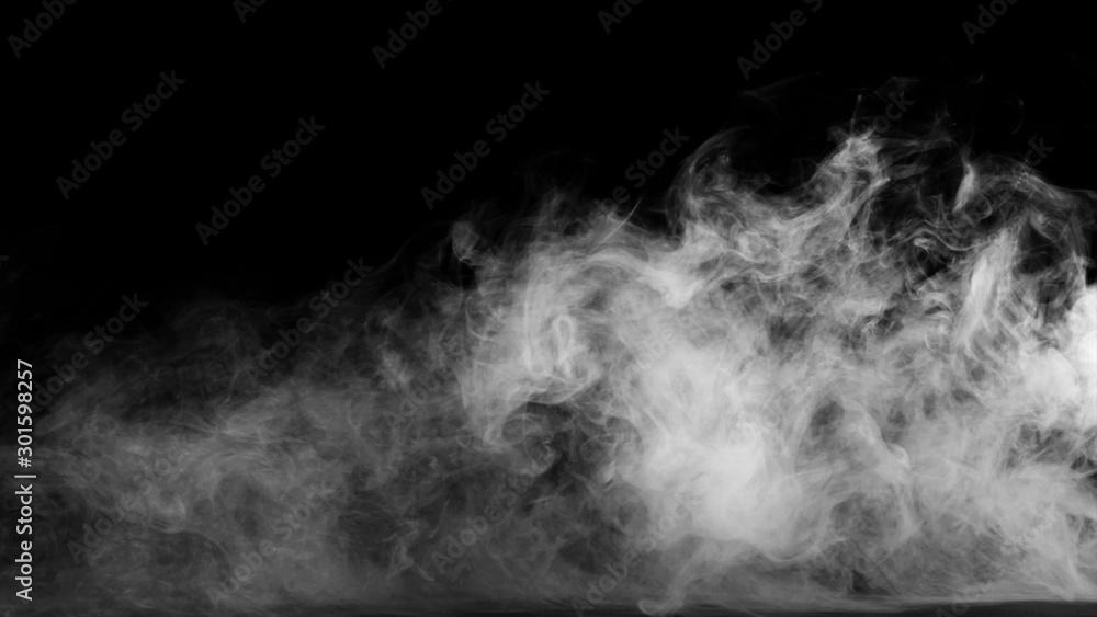 Fototapety, obrazy: White smoke collection on black background.