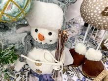 Decorative Textule Funny Snowm...