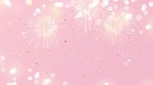 Festive Background With Firewo...