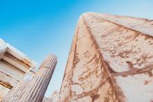Antike Säulen Der Akropolis I...