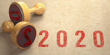 Rubber Stamp And 2020 New Year...