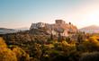 Parthenon bei Sonnenaufgang in Athen, Griechenland
