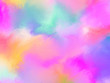 canvas print picture - Watercolor paint like gradient background pastel ombre style. Iridescent template for brochure, banner, wallpaper, mobile screen. Neon hologram theme