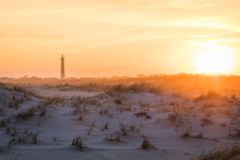 Cape May NJ Lighthouse At Sunset In Springtime