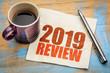 canvas print picture - 2019 year review on napkin