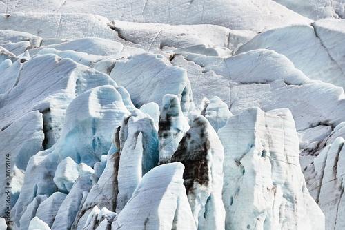 Obraz na plátne  Epic glacier ice mass in Iceland, Svinafellsjokull