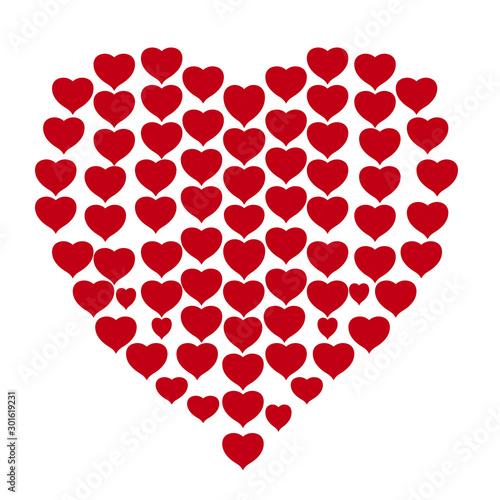 Obraz na plátně cuore fatto di tanti cuori colorati per san valentino