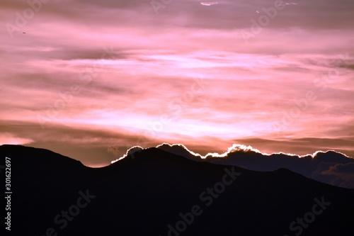 Vibrant Mountain Sunset