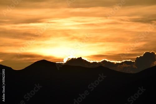 Glowing Mountain Sunset