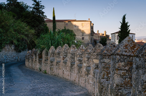 The wall of the medieval city of Trujillo, Cáceres, Spain