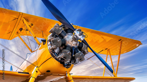 propeller  of  an historic  aircraft Canvas Print