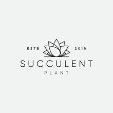 Succulent Plant Logo Design In...