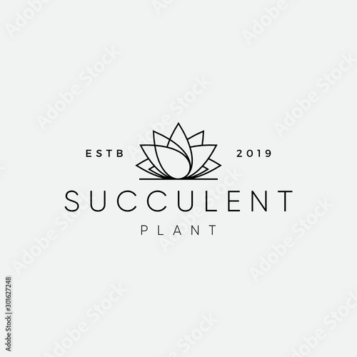 Fototapeta Succulent plant Logo Design Inspiration obraz