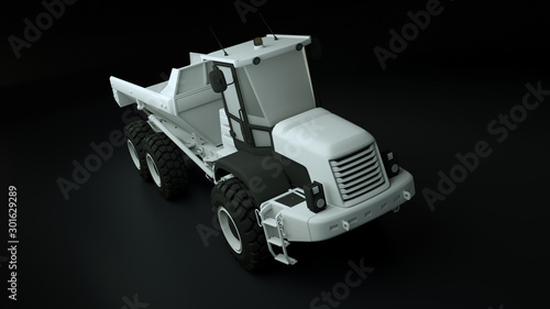 Photo 3d rendered illustration of a Articulated Dump Truck