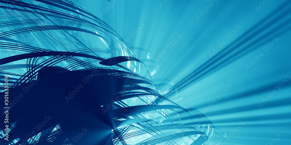 Fototapety, obrazy: 3D rendering of abstract technology concept background
