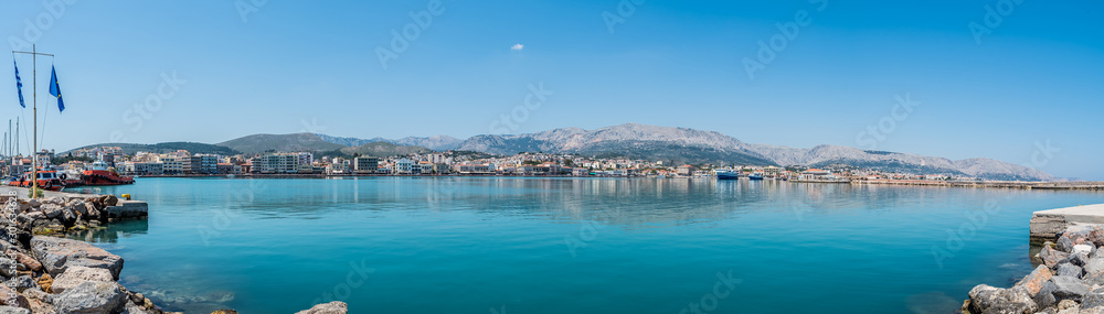 Fototapety, obrazy: Port of Chios panorama on a beautiful day, Greece