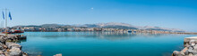 Port Of Chios Panorama On A Be...