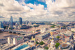canvas print picture - City of London view at sunny day. View include Office buildings, river Thames and bridge.