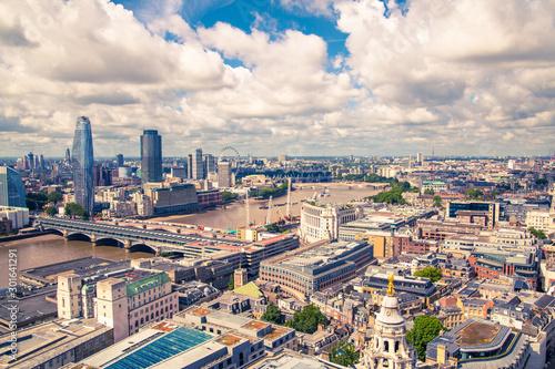 Fotografía  City of London view at sunny day