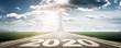 Leinwanddruck Bild - Vorwärts ins neue Jahr 2020!