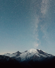 Milky Way Mount Rainier Stars