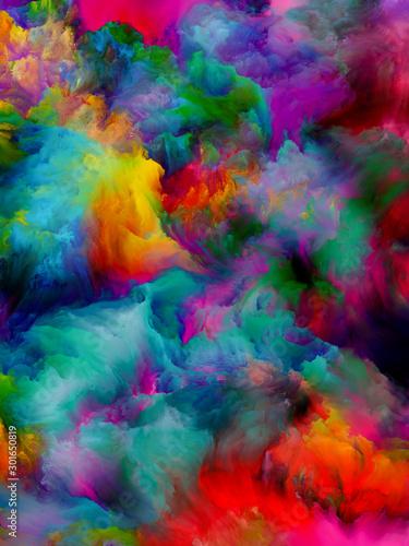 Elements of Virtual Color Slika na platnu
