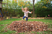 Playing In Leaves